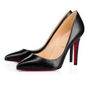 Christian Louboutin Pigalle black leather pumps